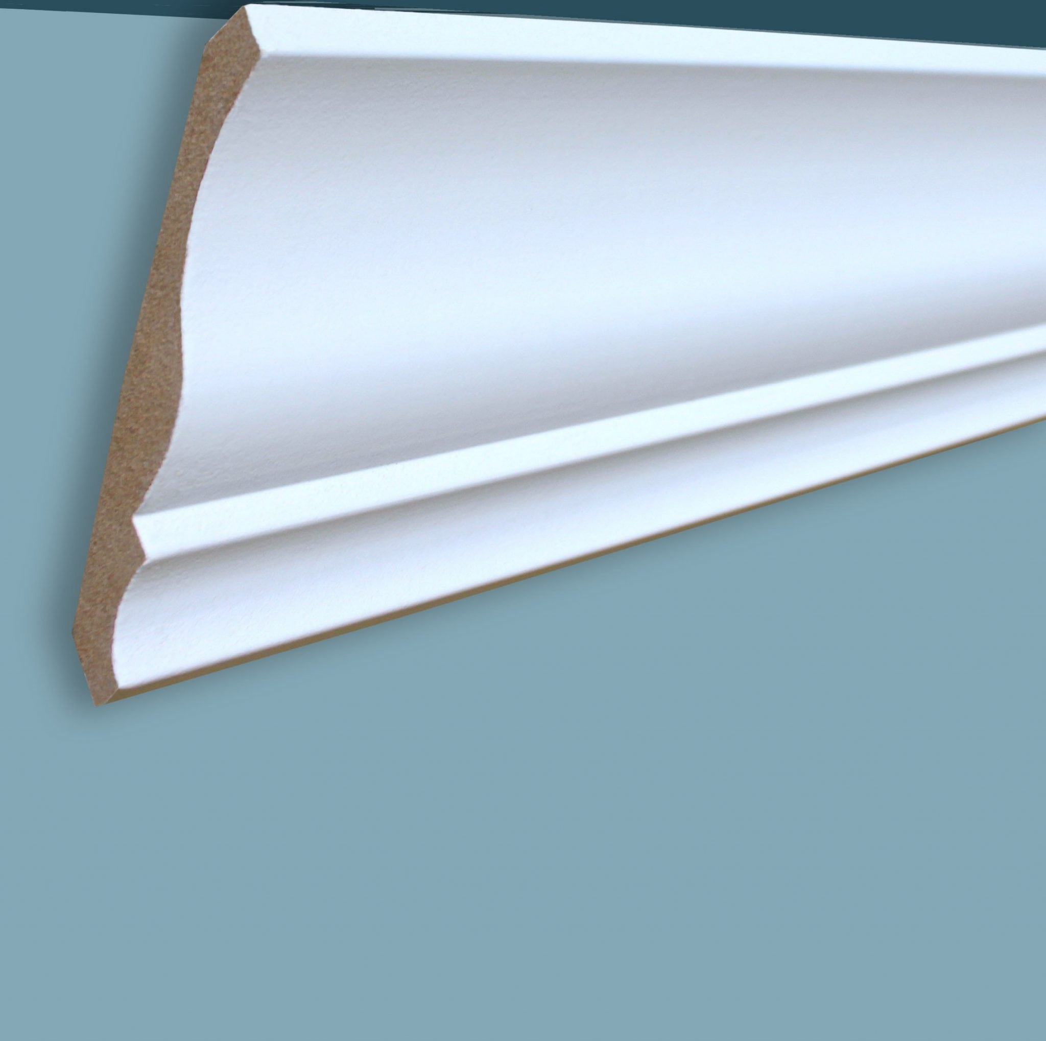 Primed moldings baseboards knoa 39 s for 9 inch crown molding